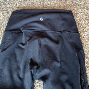 Pants - lululemon leggings, mesh detailing